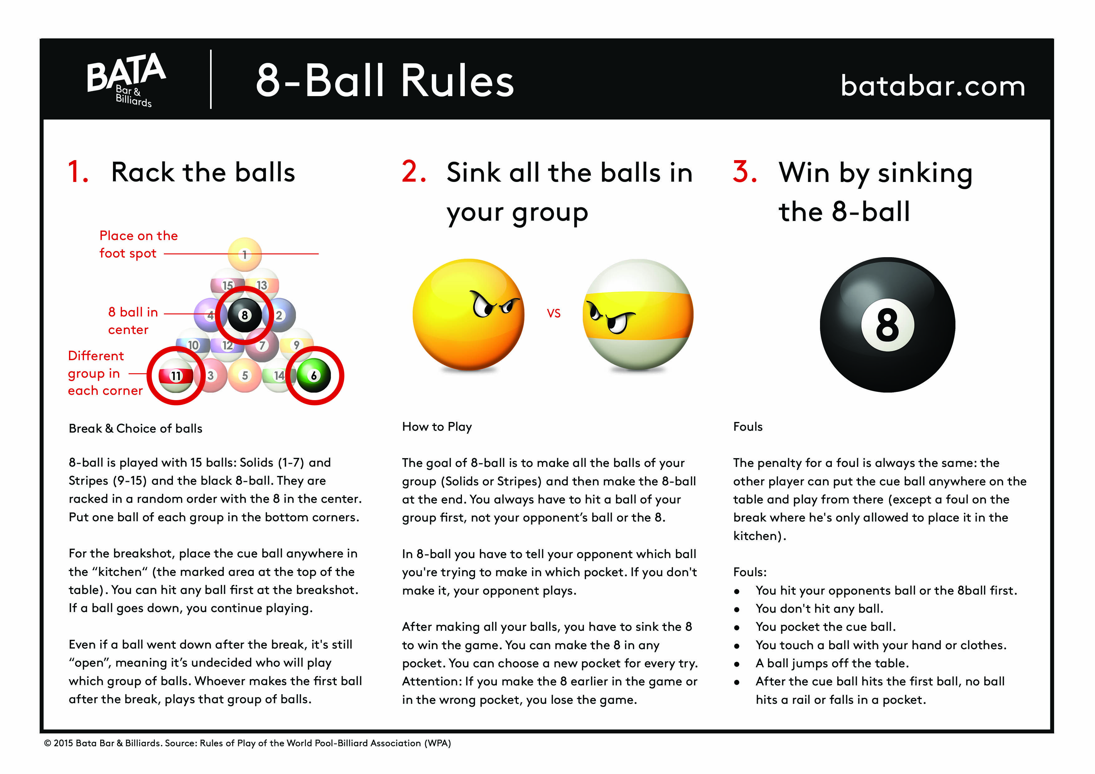 Rules For 8 Ball And 9 Ball Pool Billiards Bata Bar Billiards Pool Balls Billiards Pool Table Games