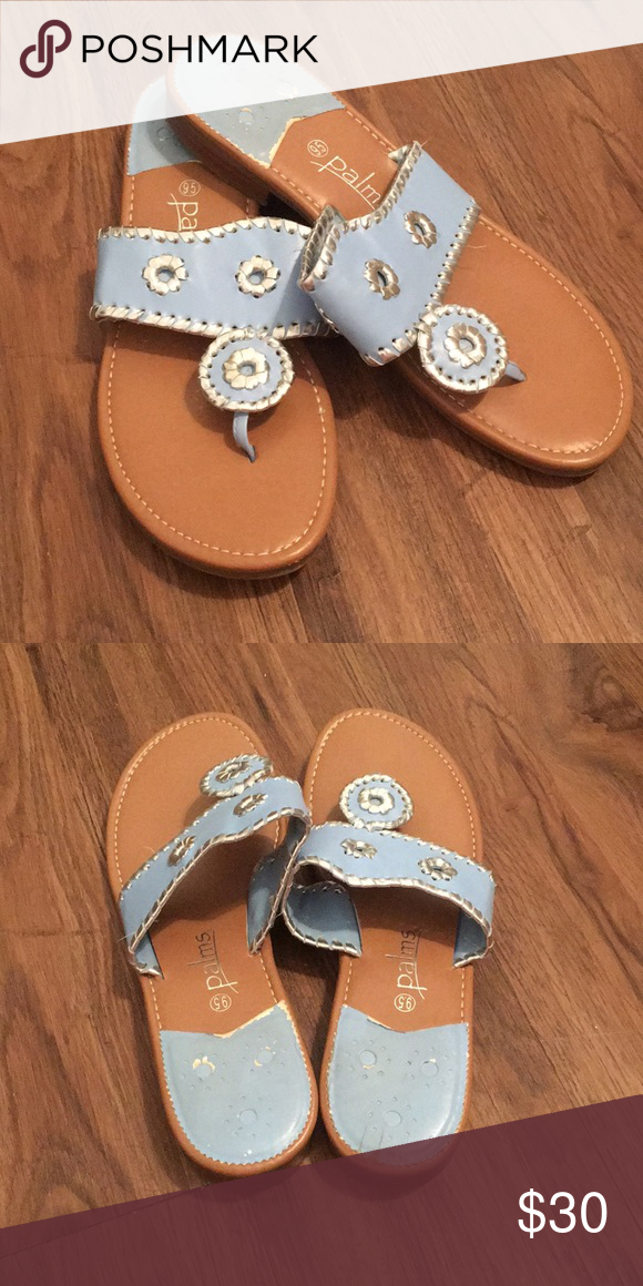 458e14a38a13d Beautiful baby blue and silver flip flops The Palm baby blue and silver  flip flops from Nordstrom Palms Shoes Sandals