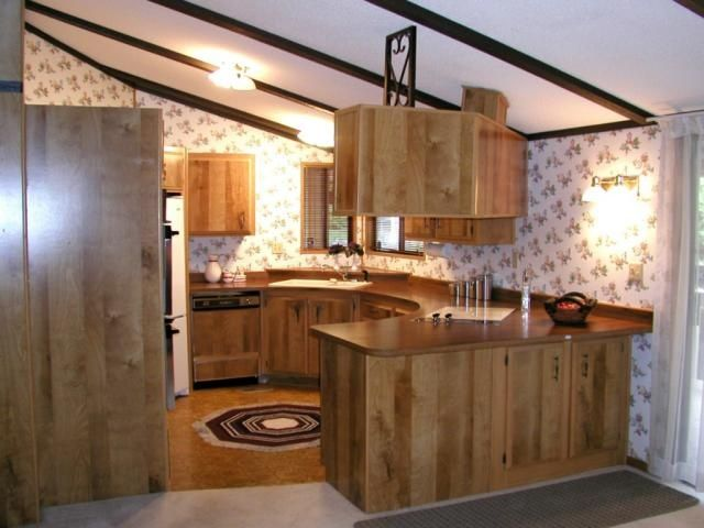 Terrific 1970s Double Wide Kitchen Mobile Home Remodeling