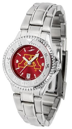 Minnesota Golden Gophers Women's Stainless Steel Dress Watch