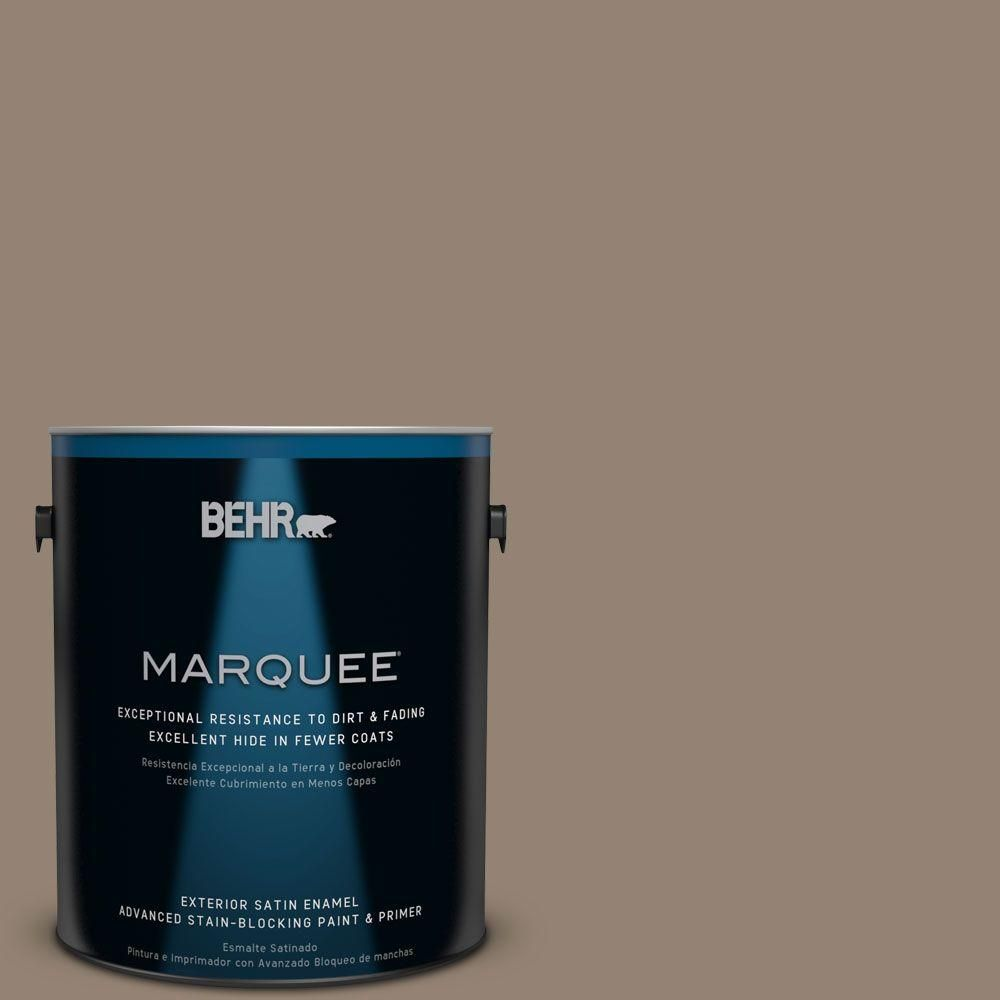 BEHR MARQUEE Home Decorators Collection 1-gal. #hdc-FL13-11 Hunt Club Brown Satin Enamel Exterior Paint