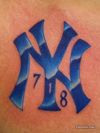 new york yankees tattoo i like the color yankees pinterest tattoo tatting and david. Black Bedroom Furniture Sets. Home Design Ideas