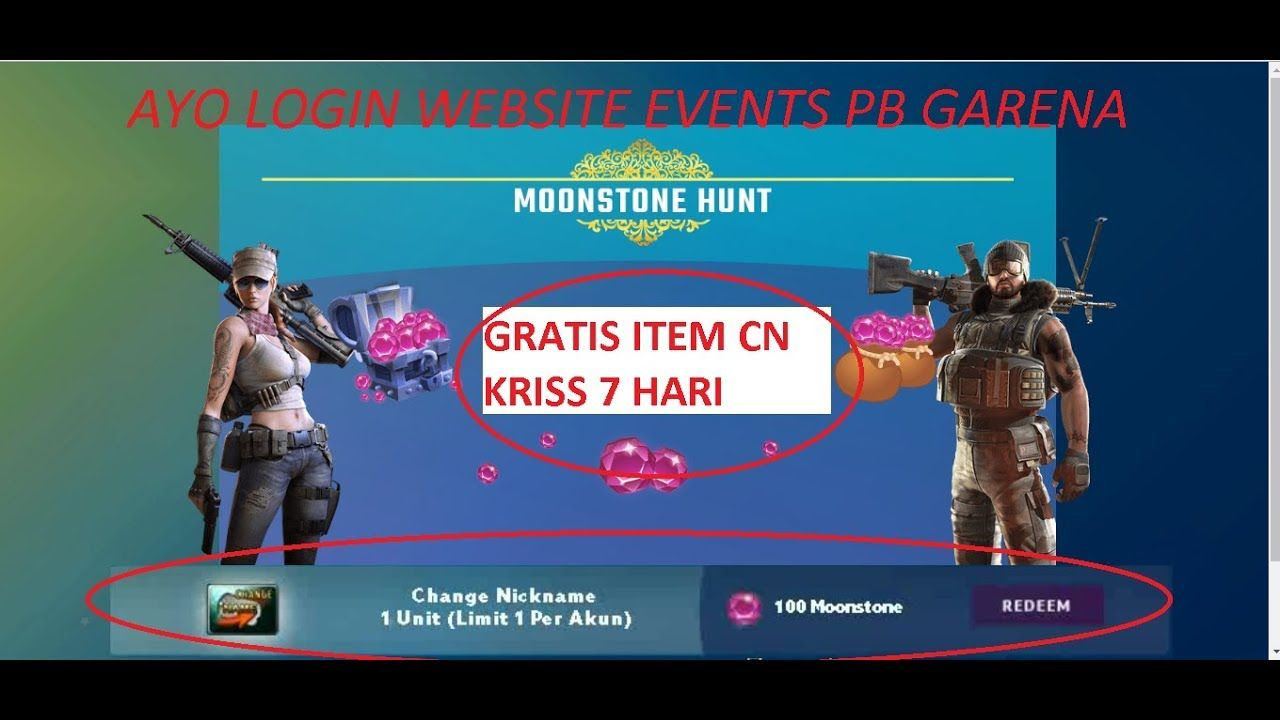 Moonstone Hunt PB - Website Events Point Blank Garena