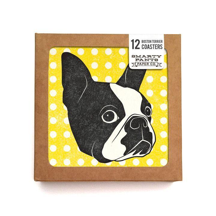 Boston Terrier Coasters Dog Lover Gift Guide Boston Terrier Terrier