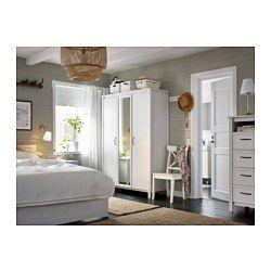 IKEA - BRUSALI, Armoire 3 portes, , Une porte à miroir permet un ...
