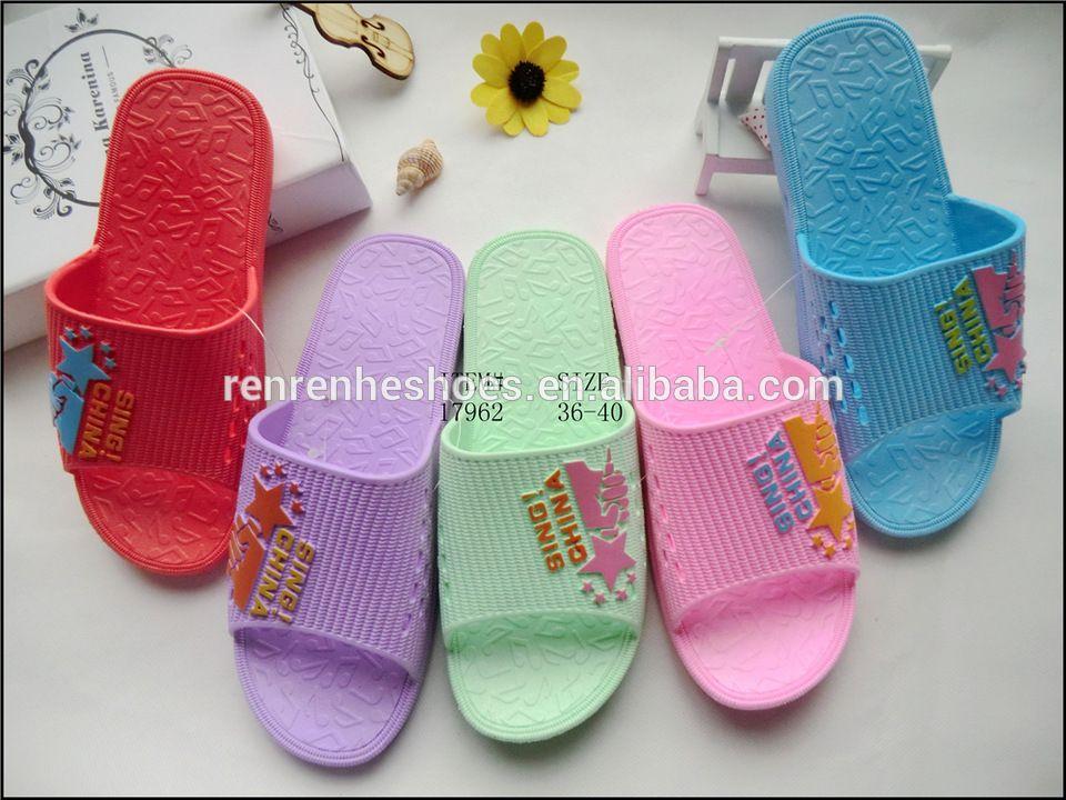 3ee1e328f new design PVC bedroom slipper shoes for women