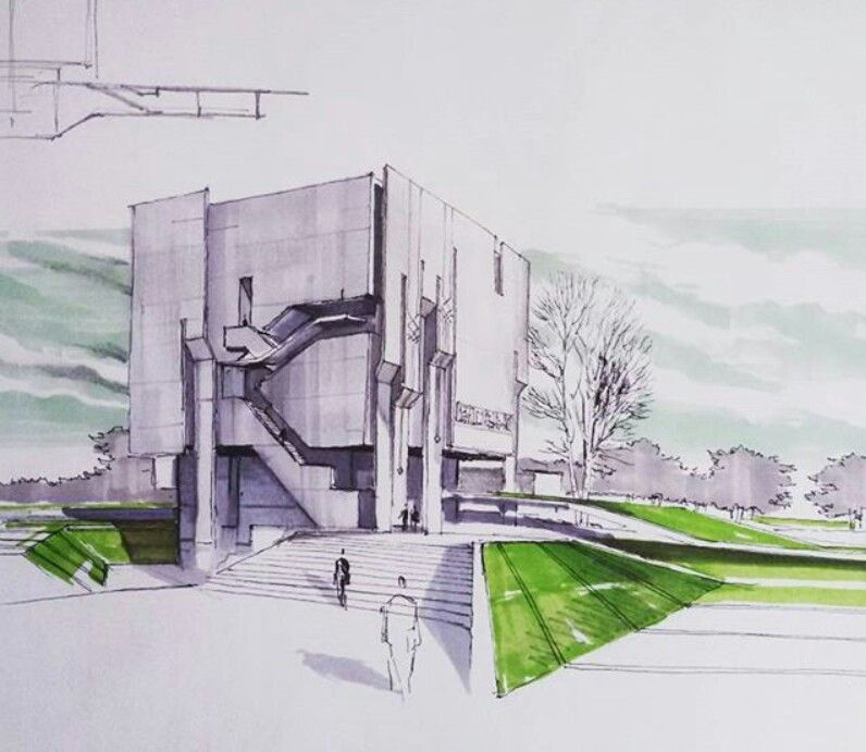 modern architectural sketches. Delighful Architectural Modern Architecture Sketch Architecture Student Rendering Throughout Modern Architectural Sketches N