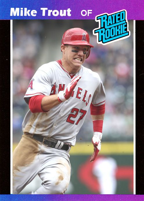 Mike Trout Rookie Card Mike Trout Custom 1989 Donruss Rated