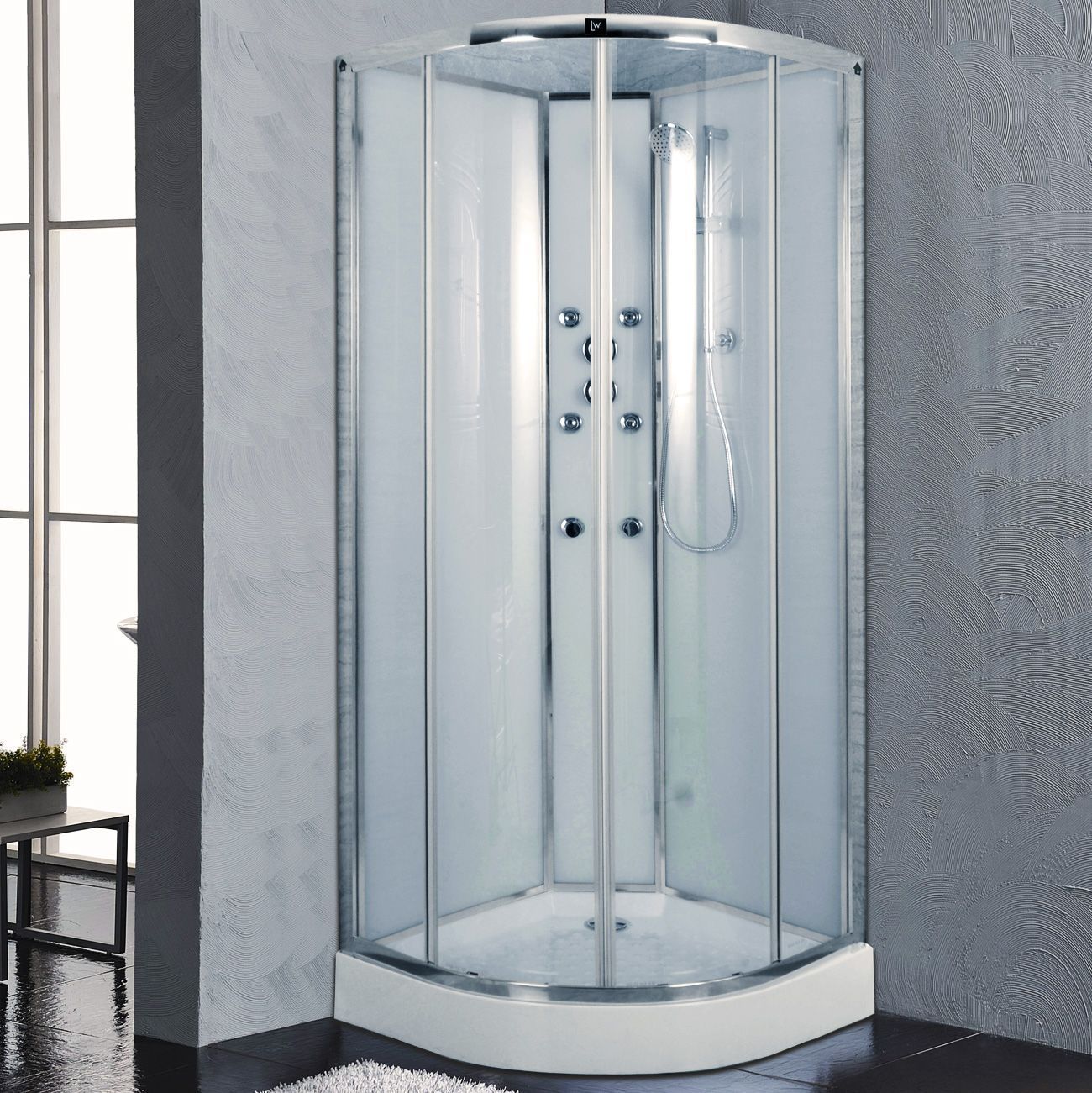 Sydney 800mm Quadrant Hydro Shower Cabin with Massage Jets - JT13 ...