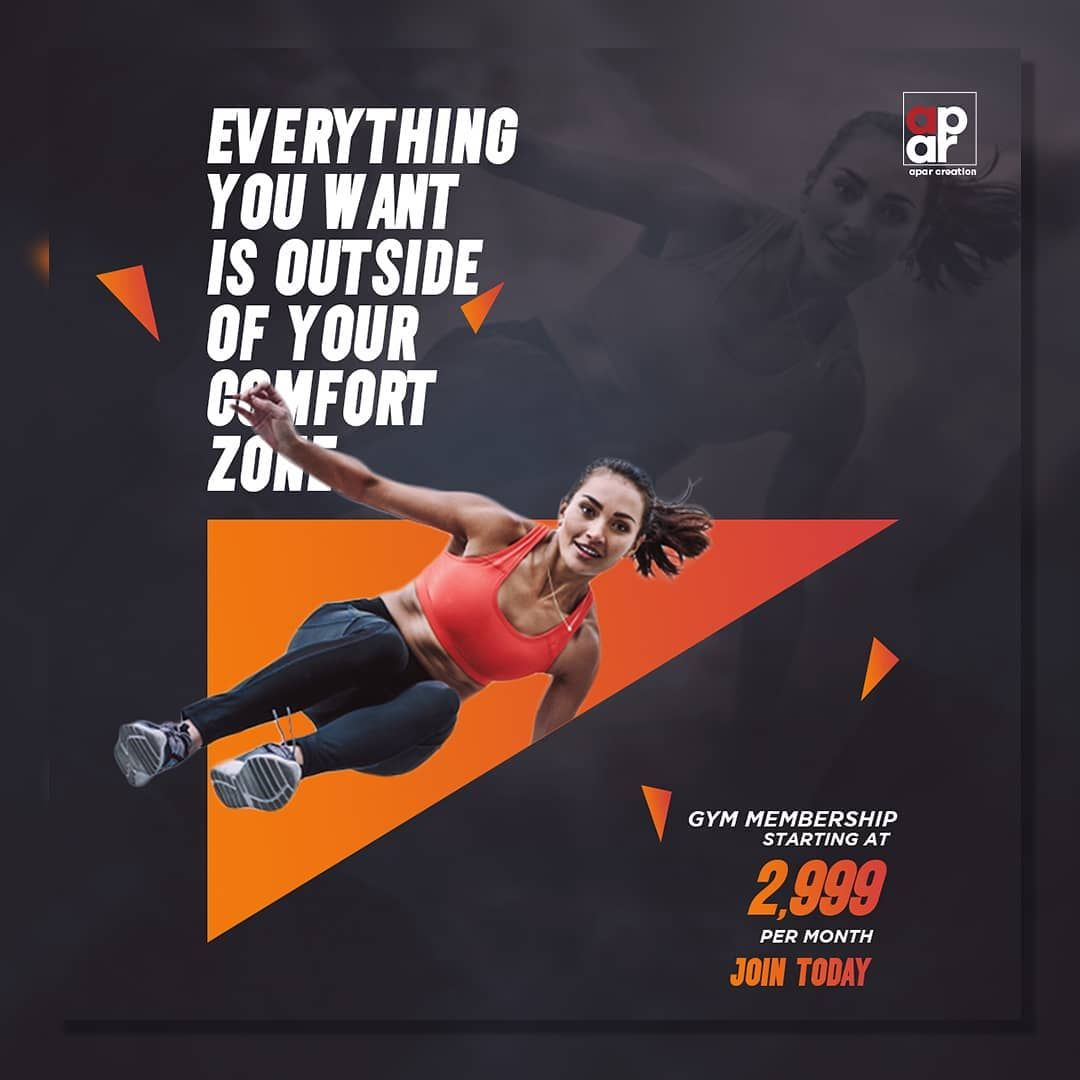 Fitness banner in 2020 Gym membership, Ads, Banner