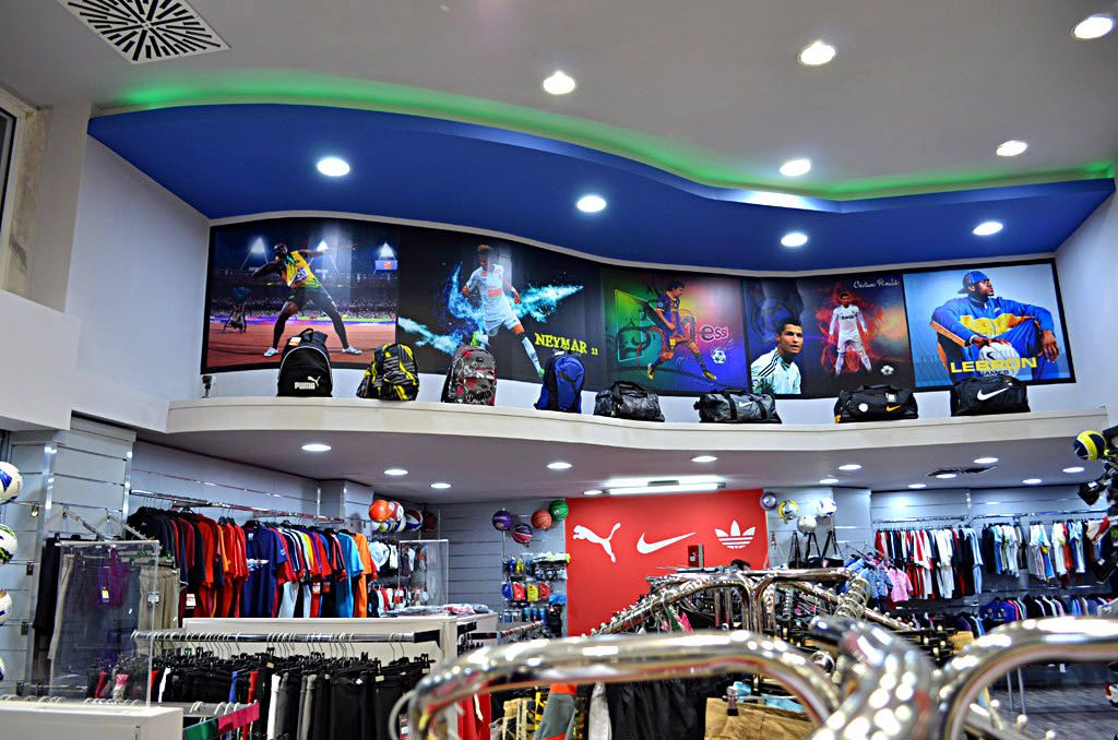 6551a3596f4 Σχεδιασμός και εξοπλισμός καταστήματος αθλητικών ειδών | SPORT LAND |  SAVOPOULOS Shop Fitting