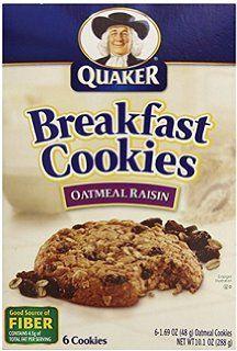 Quaker Chewy Breakfast Cookies Oatmeal Raisin, 6 Count