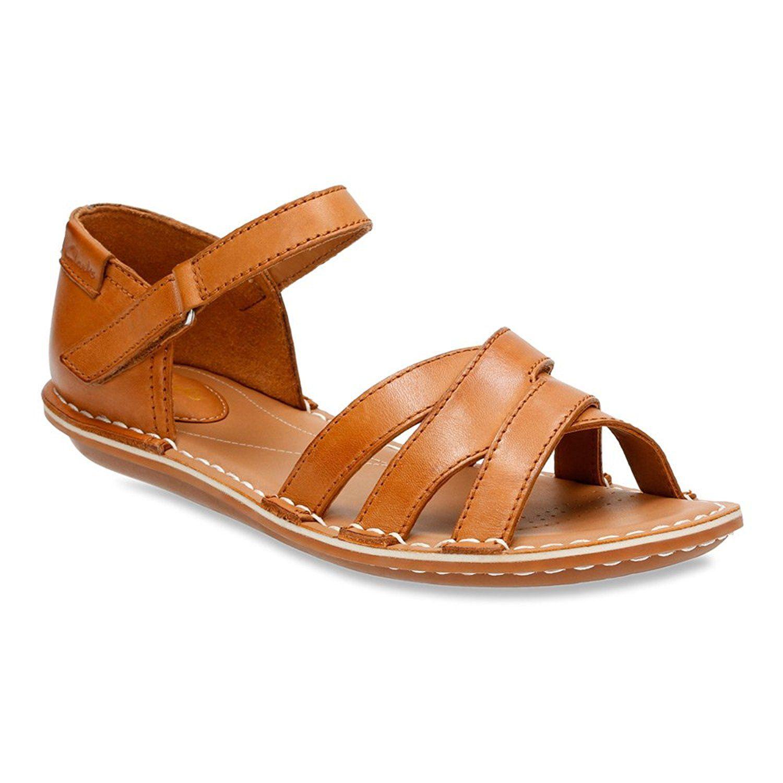 Womens Sandals Clarks Tustin Sahara Tan Leather