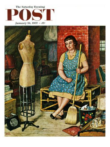 Quot Former Figure Quot Saturday Evening Post Cover January 26