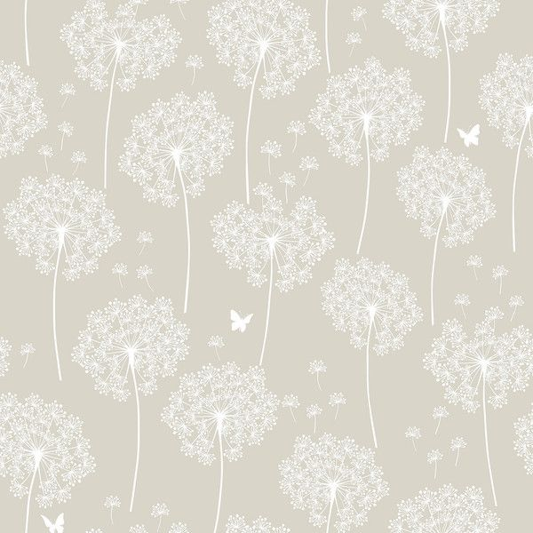 Dandelion Taupe Peel And Stick Wallpaper 78 Liked On Polyvore Featuring