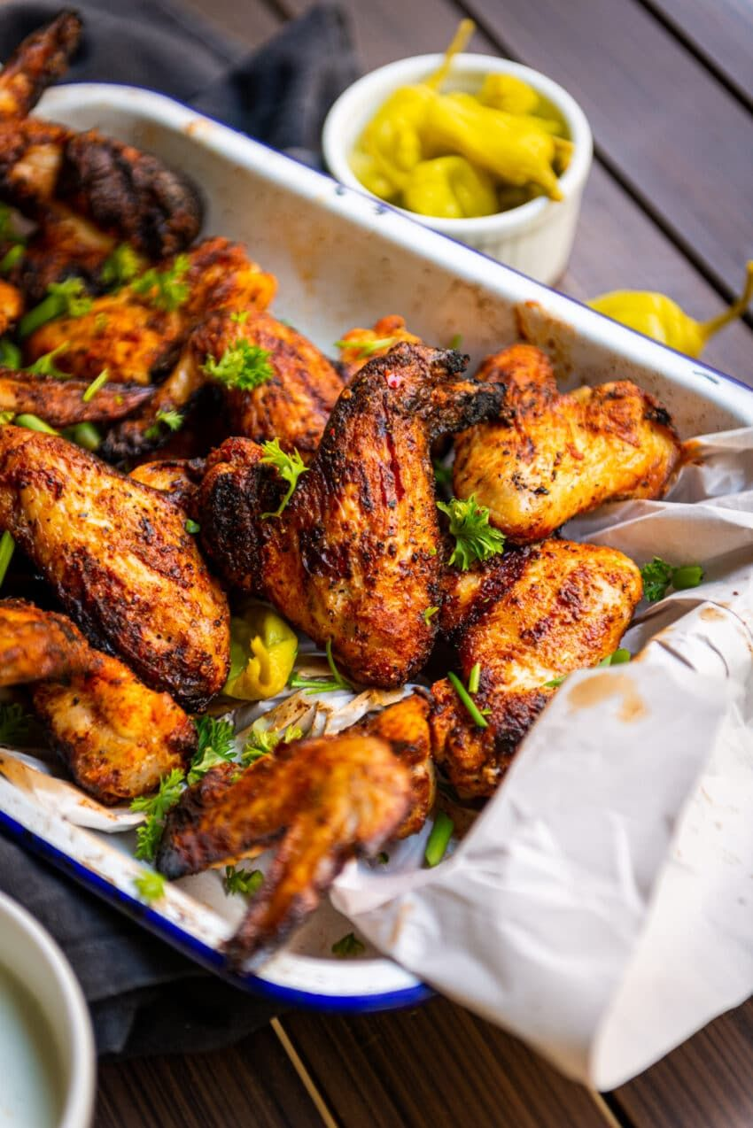 Buttermilk Brined Grilled Chicken Wings Girl Carnivore Recipe In 2020 Chicken Wing Recipes Grilled Chicken Wings Chicken Spices