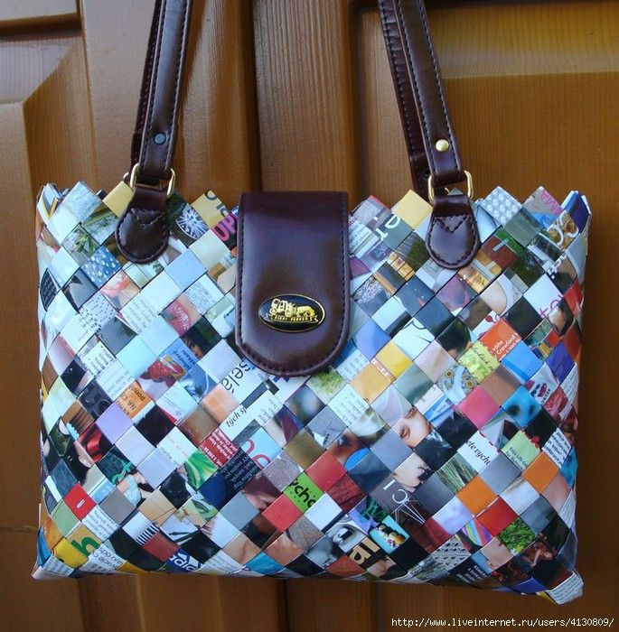 Handbags From Magazines How To Make Beautiful Bags And Purses In The Art Of Weaving Strips Different Materials Class Is Very Detailed