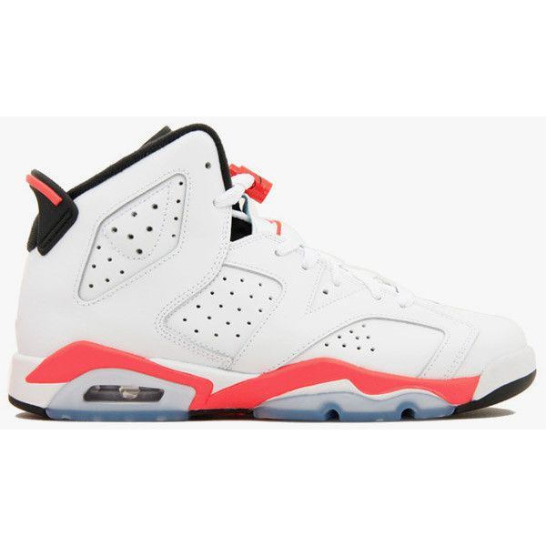 buy online b4397 51118 Nike Air Jordan 6 Retro (GS) White Infrared ( 259) ❤ liked on. Shoes  JordansNike ...