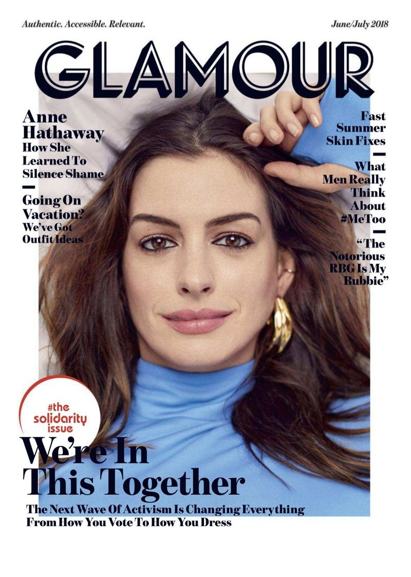 Anne Hathaway Poses For Glamour Uk Talks Ageism In Hollywood Anne Hathaway Glamour Magazine Glamour Magazine Cover