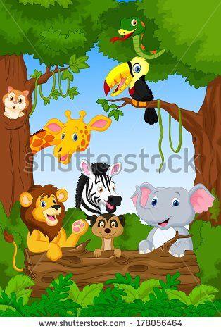 Teguh Mujiono S Portfolio On Shutterstock Cartoon Animals Safari Baby Animals Cartoon Pics
