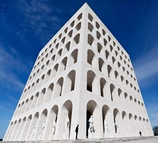 Ever impressive. Palazzo della Civiltà Italiana by  Giovanni Guerrini, Ernesto Bruno La Padula  and Mario Romano. #morpholioARCHITECTURE