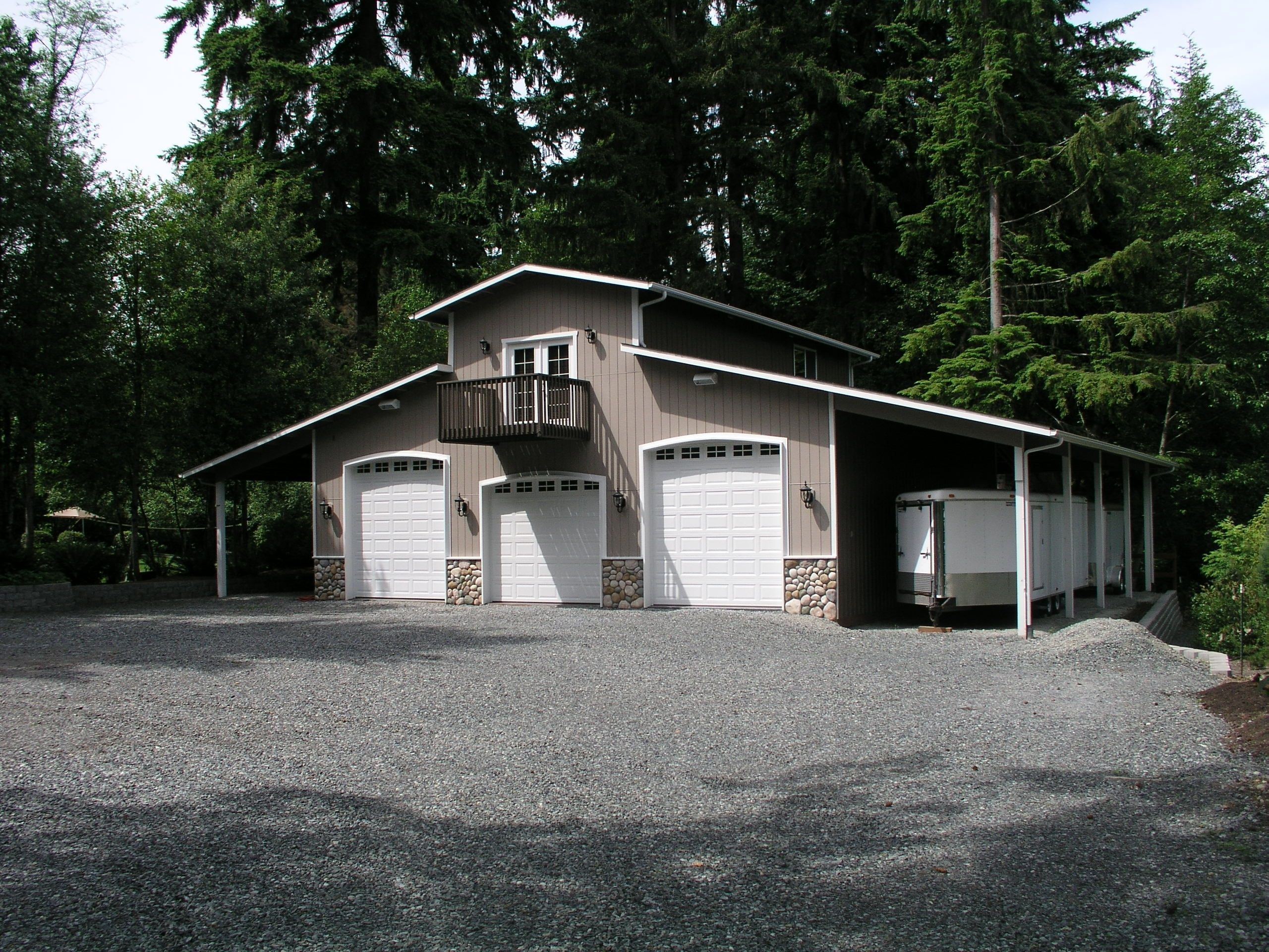 Welcome to ark custom buildings inc marysville wa garages for Pole barn style garage