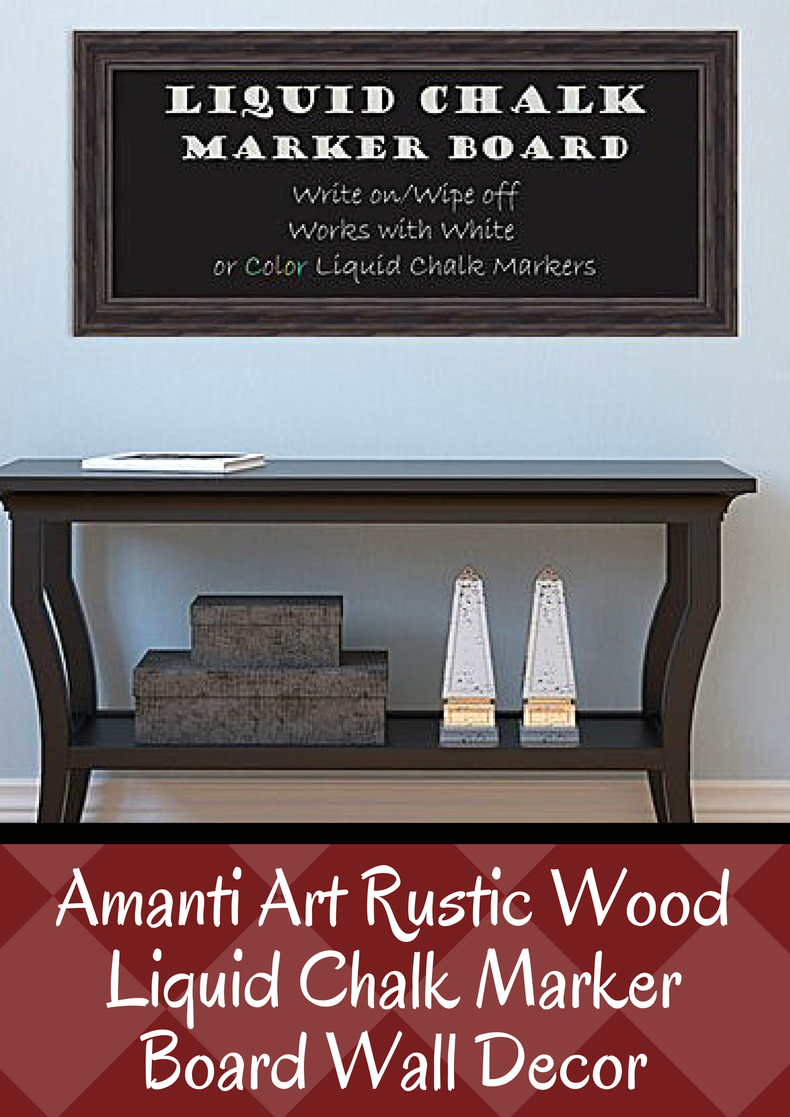 This Amanti Art Liquid Chalk Marker Board Wall Decor Lends An Earthy