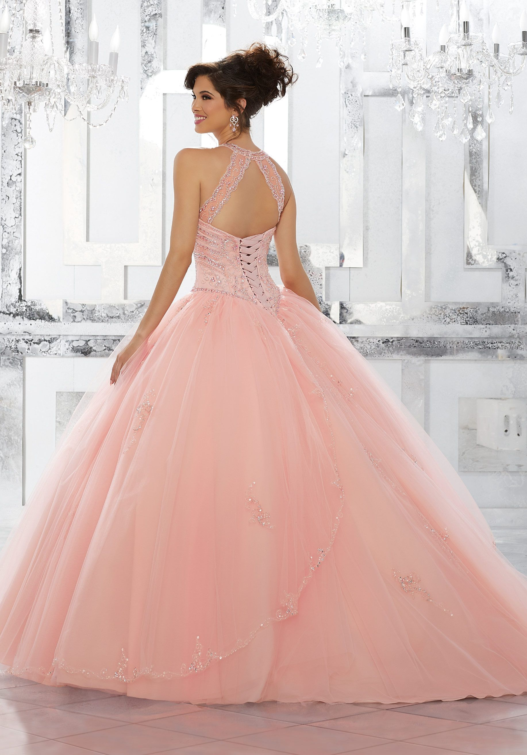 Princess Perfect, This Tulle Quinceañera Ballgown with Beaded Skirt ...