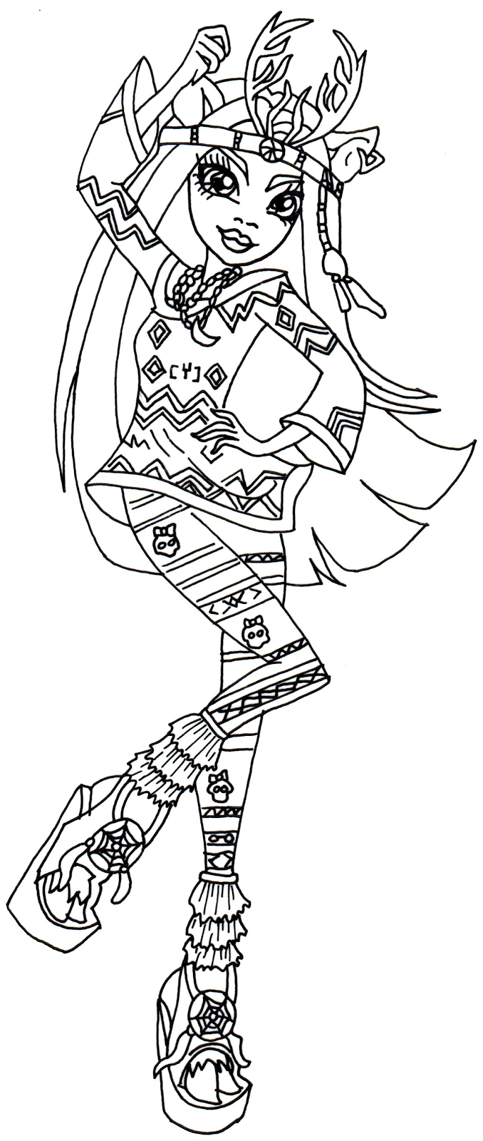 Isi Dawndancer Monster High Coloring Pages 678x