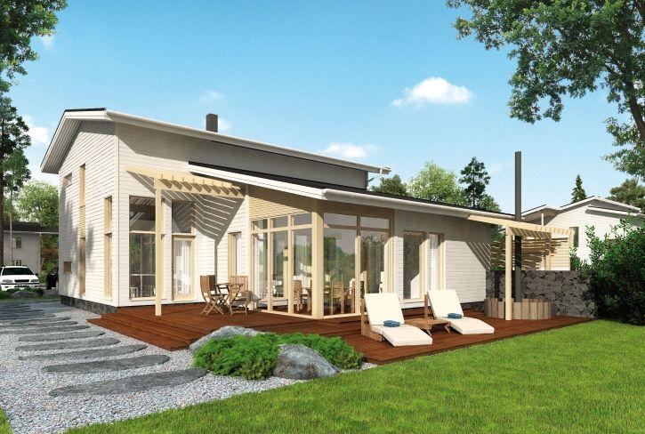 Arkeen luksusta – Valo: 190 m², 5 makuuhuonetta, 2-kerroksinen omakotitalo