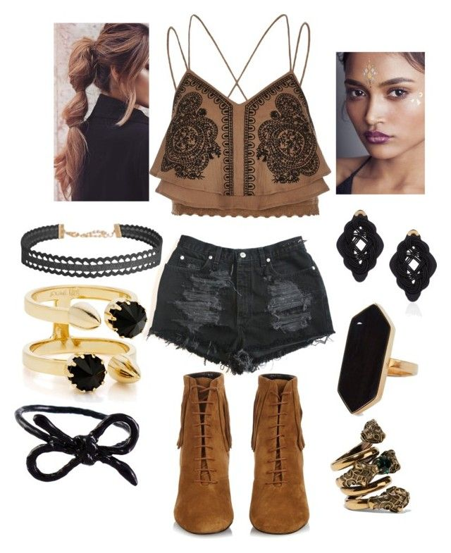 """""""seh1"""" by bama02614 on Polyvore featuring In Your Dreams, River Island, Yves Saint Laurent, Jaeger, Humble Chic, Anna e Alex, Joomi Lim, Gucci and Areaware"""