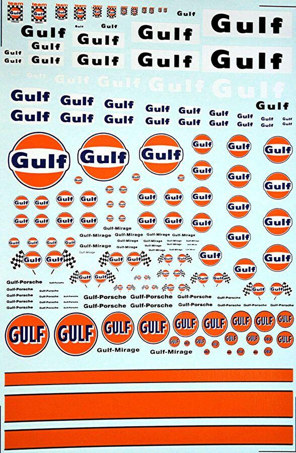 Gulf Sponsoren Bogen No.6-1:43 Decal Abziehbilder