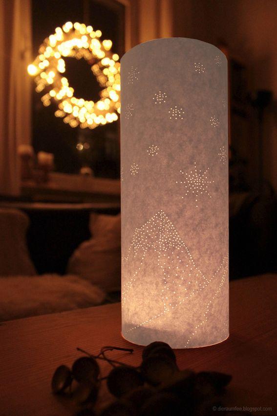 Der Schweizer Sternenhimmel als Windlicht im Advent - geprickelt, nicht gemalt...