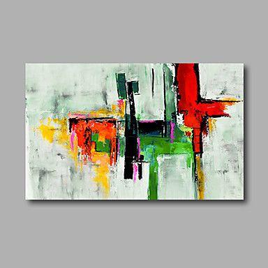 Handgemalte Abstrakt Horizontal, Modern Segeltuch Hang-Ölgemälde ...