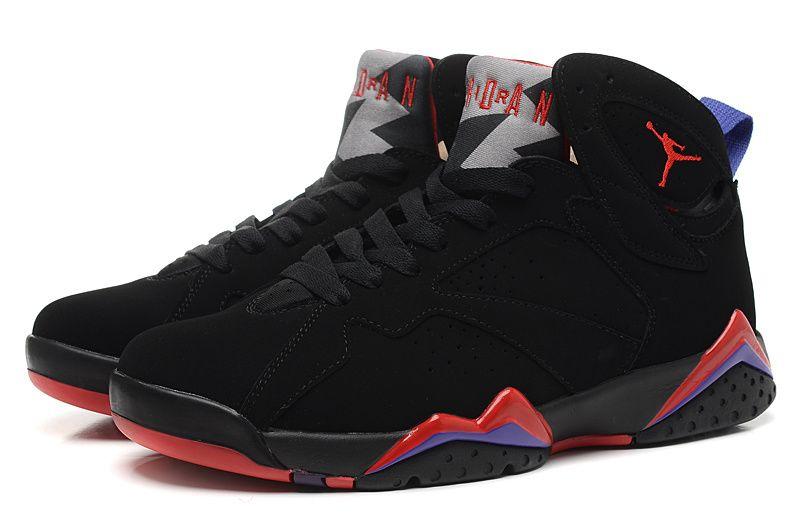 new arrival 8577f 88289 Nike Air Jordan 7 Retro Black Red Men Shoes