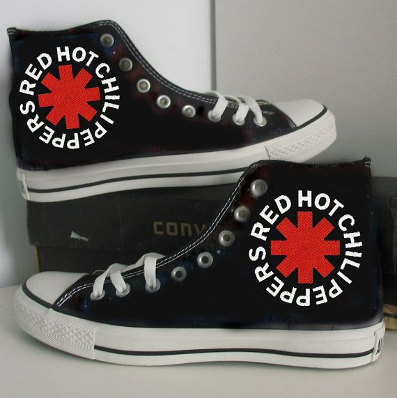 Red Hot Chili Peppers converse custom hand painted by SUNFORESTSEA ... 83d69a822