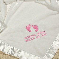 personalised embroidered baby fleece blanket