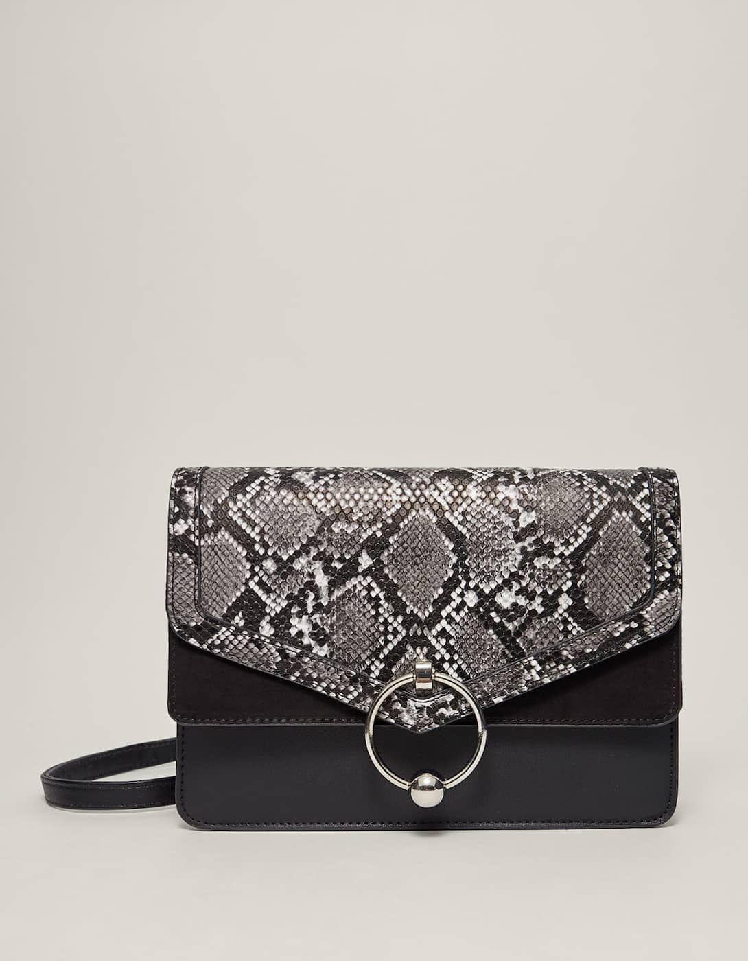 e579c0451519 Faux snakeskin crossbody bag - Bags and backpacks | Stradivarius Hungary