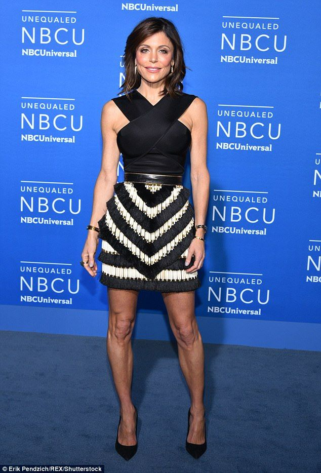 Up front about it: Bethenny Frankel is seen at the NBCUniversal Upfront Presentation in New York City on Monday