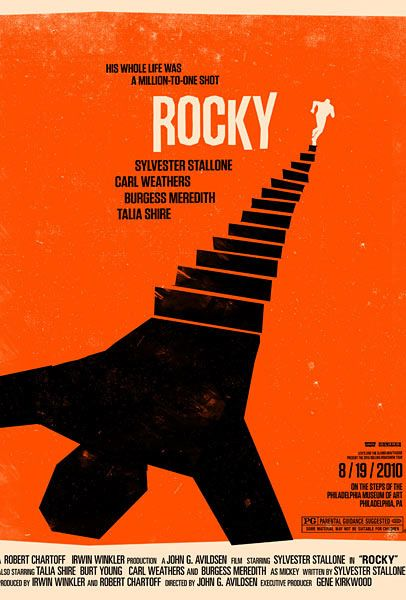 Rocky poster by Olly Moss