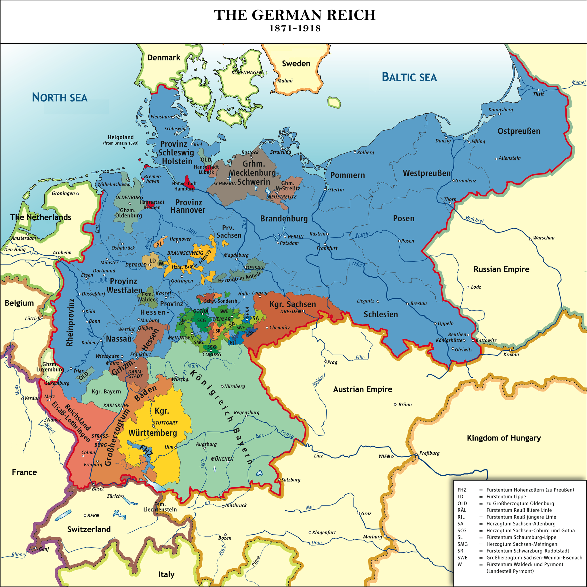 40 maps that explain world war i pinterest wwi empire and german the unification of the german empire gumiabroncs Image collections