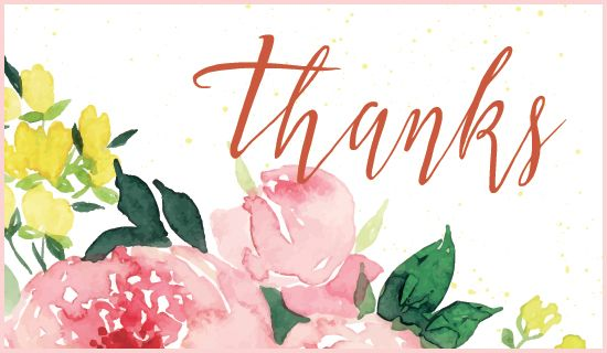 Thanks With Images Free Thank You Cards Personalized Thank