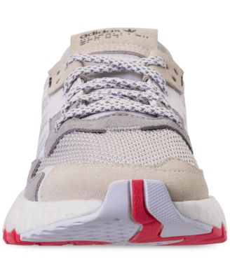 ce91a8520ba84 adidas Boys  Originals Nite Jogger Casual Sneakers from Finish Line - White  5.5