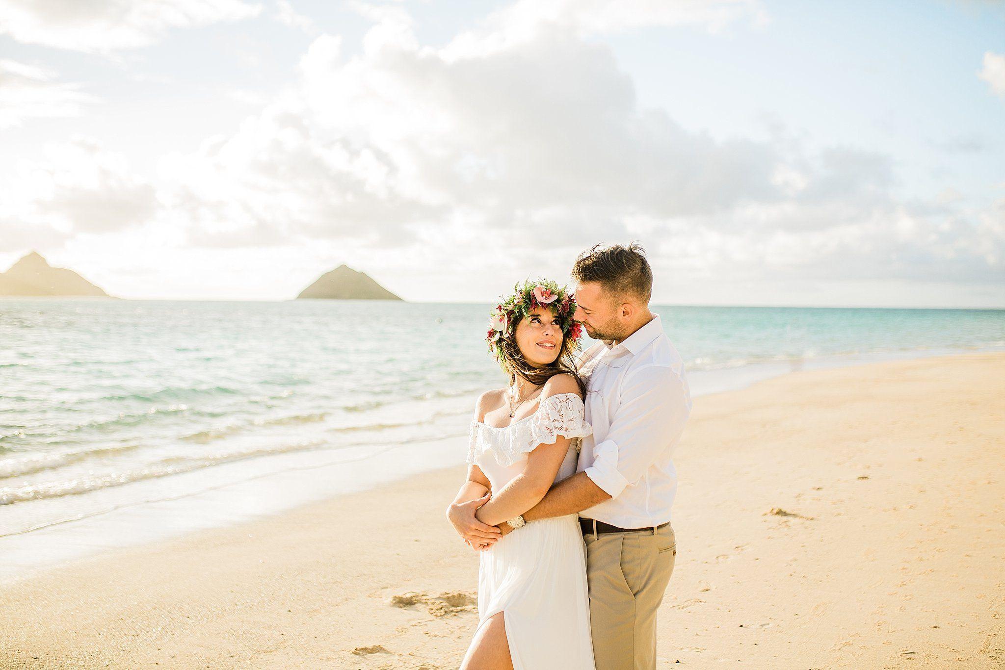 Sarah And Tom S Lanikai Beach Wedding
