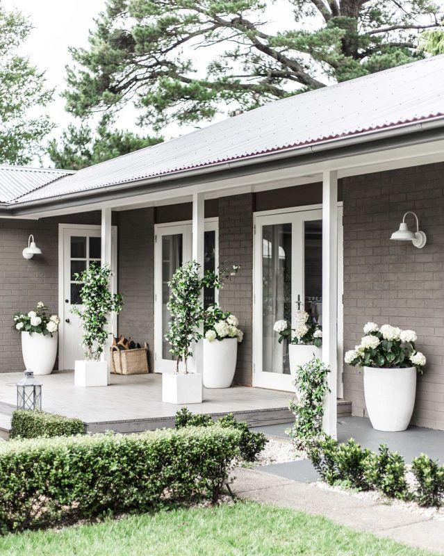 9 Fantastic Front Porch Ideas For Your Next Project House Paint Exterior Painted Brick House Facade House