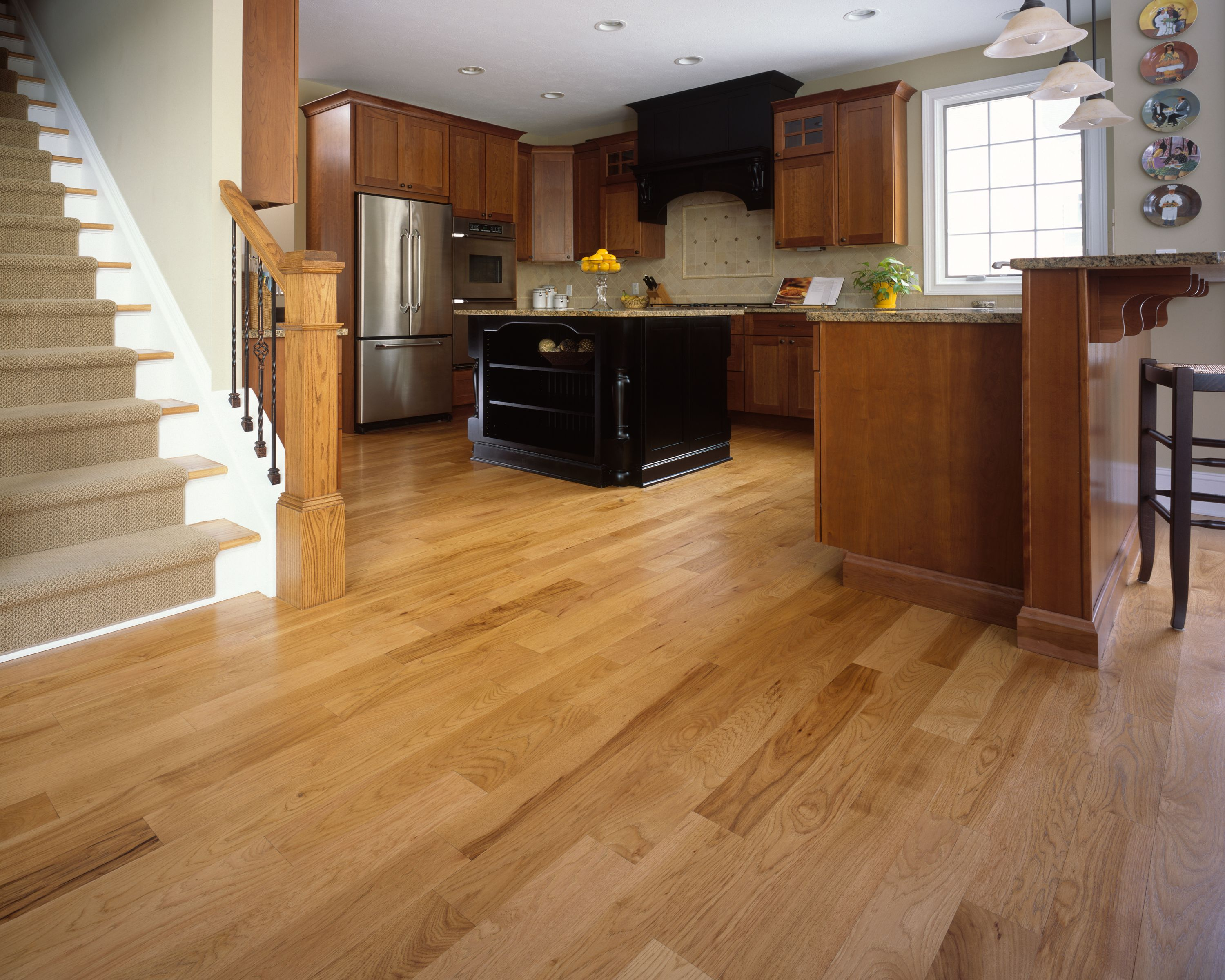 Walnut wood floors in kitchen wood floors for kitchen for Kitchen flooring advice