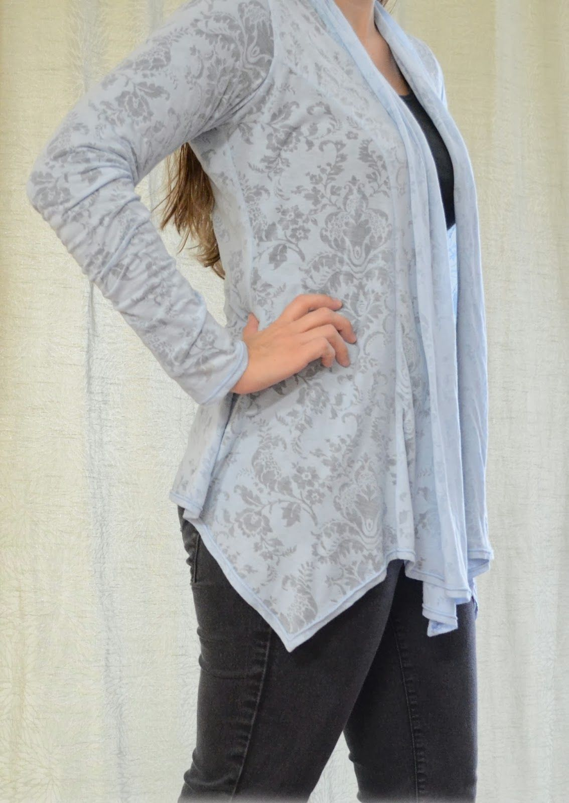 Scarf Neck Cardigan (Women   Sewing patterns, Scarves and Patterns