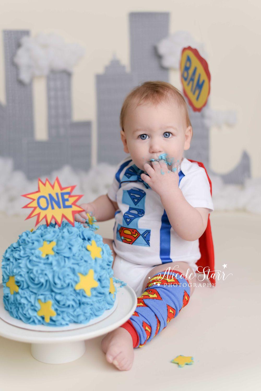 Love This Fun Superman Inspired Cake Smash