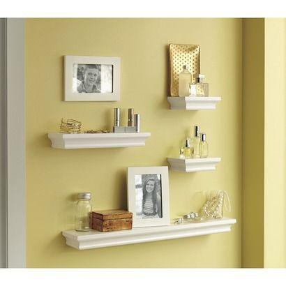 Threshold™ Wall Ledge set of 4 Shelves, 2 Frames - White ...