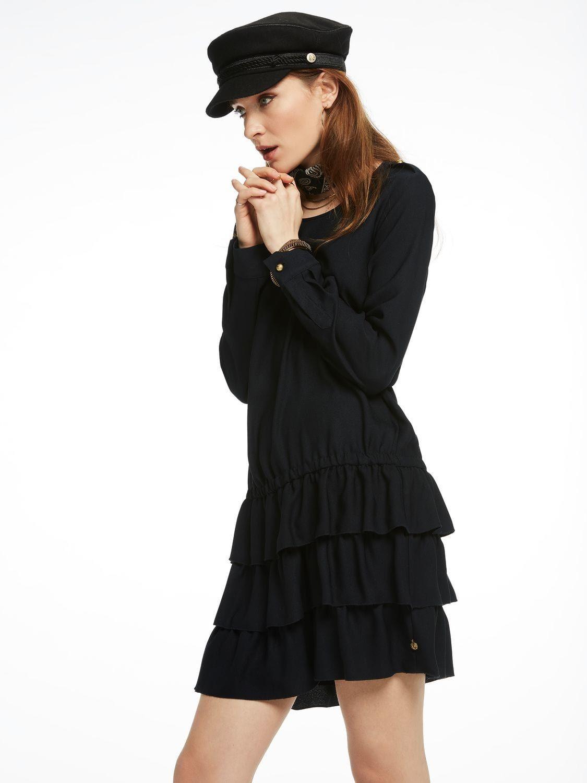 Geruschtes Kleid Mit Tiefer Taille Modestil Kleider Bekleidung